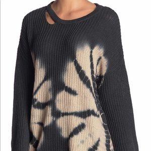 Vintage Havana Cut Out Tye Dye Sweater M